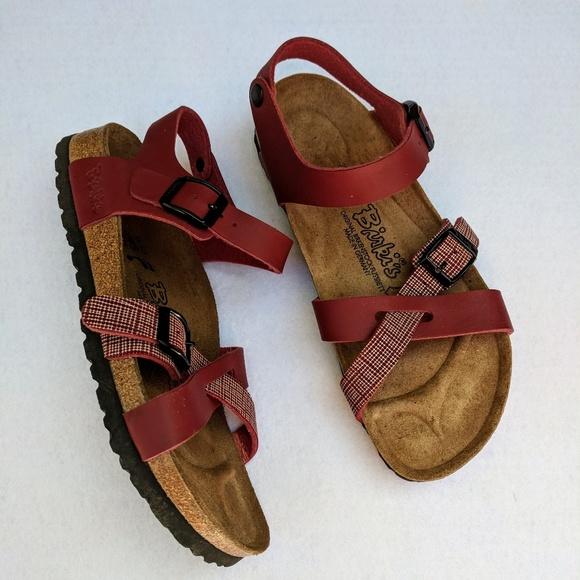 e665e19054a4 Birkenstock Birki s Maroon Ankle Strap Sandals